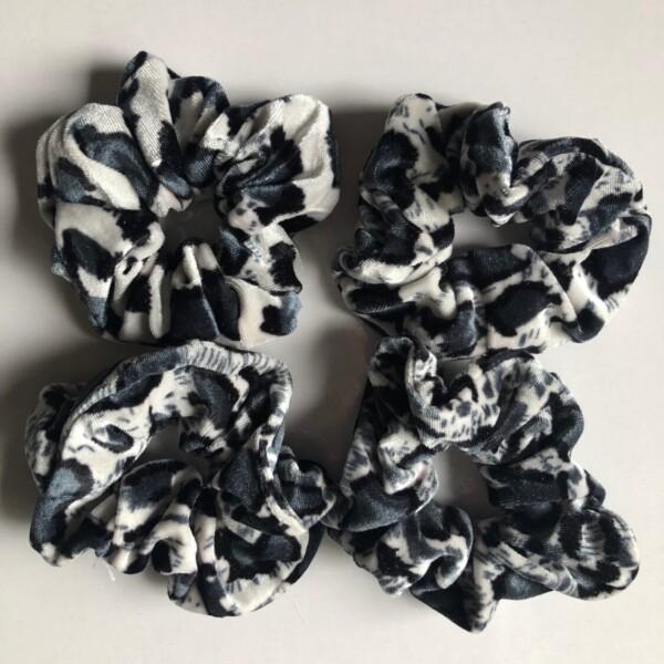 Scrunchie Leopard Print – Blue